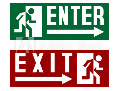 Enter-exit (on stage)